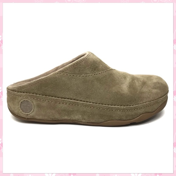 Fitflop Shoes | Fitflop Tan Suede Clogs